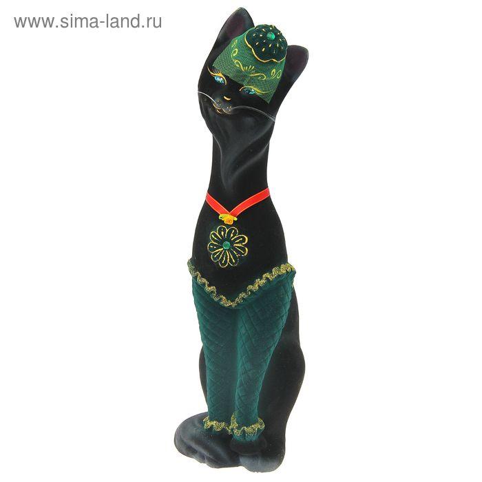 """Копилка """"Кошка Мишель"""" флок, чёрная"""