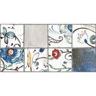 Облицовочная плитка Лофт синий (цветочный) 08-10-65-741 40х20см (в упаковке 1,28 кв.м)