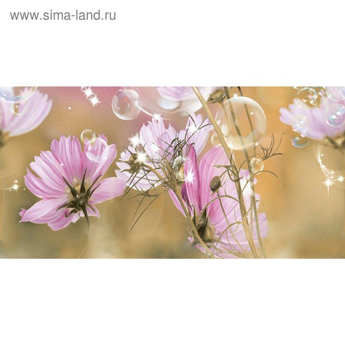Вставка керамическая 50х25см Эльза Космея зеленый 10-04-85-165-2