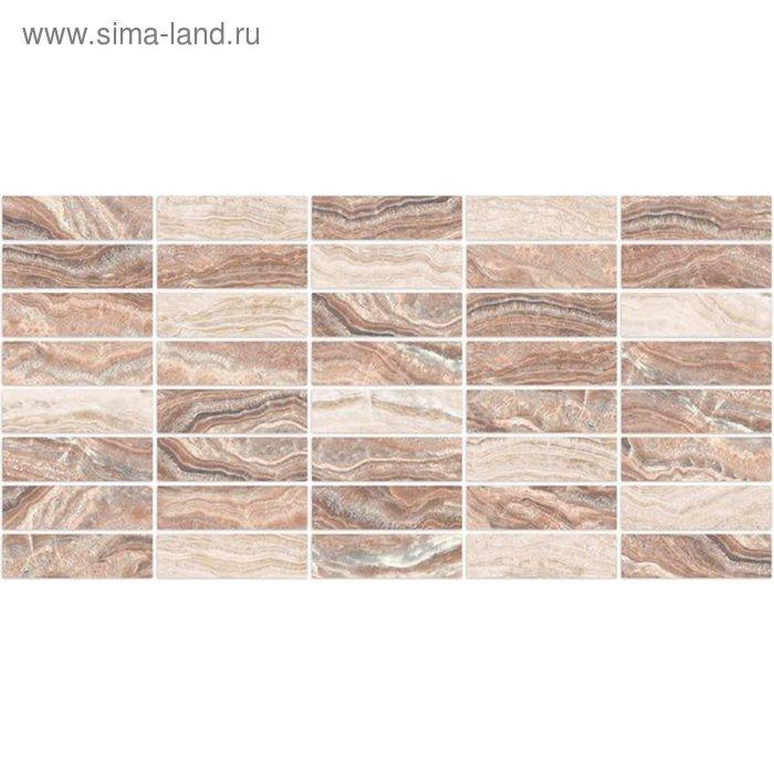 Вставка керамическая 50х25см Триумф розовый 10-11-41-135