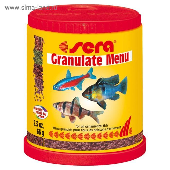 Корм для рыб универсальный Sera Granulate Menu, 150 мл, 66 гр.