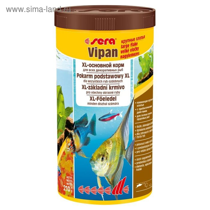 Корм для рыб универсальный Sera Vipan крупные хлопья,1 л, 210 г