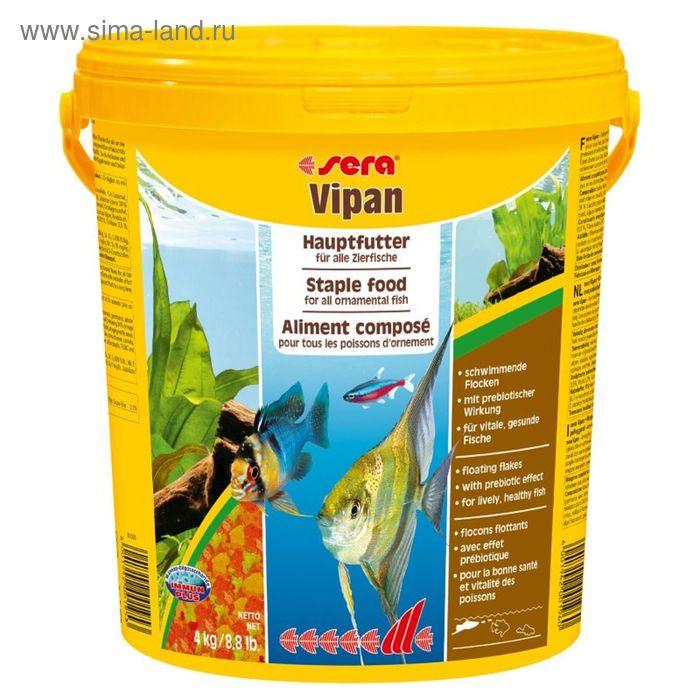 Корм для рыб универсальный Sera Vipan крупные хлопья,10 л, 2 кг