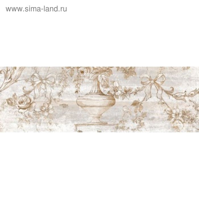 Вставка керамическая 60х20см Прованс серый 17-03-06-867
