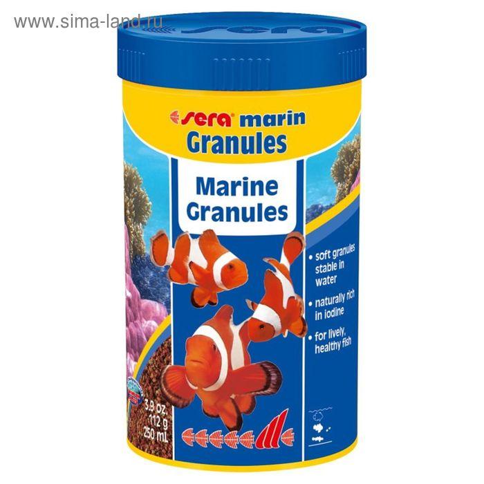 Корм для обитателй морских аквариумов  Sera Marin Granulat 250 мл, 112 г.
