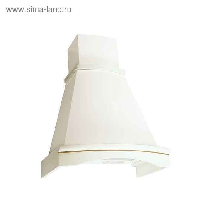 Кухонная вытяжка ELIKOR Ротонда 60П-650-П3Л, бежевая/дуб белый, серебро