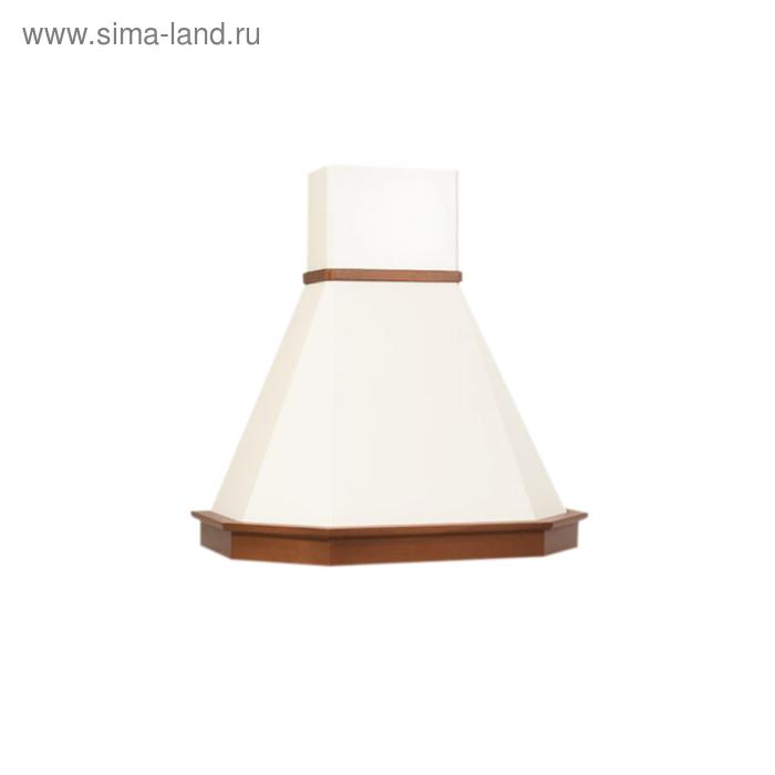 Вытяжка Elikor Камин Грань 90П-650-П3Л, бежевый/бук светло-коричневый