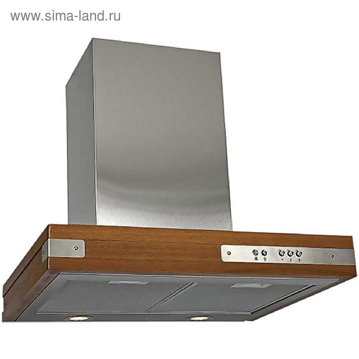 Кухонная вытяжка ELIKOR Патио 60Н-650-К3Г, нержавеющая сталь/дуб коричневый