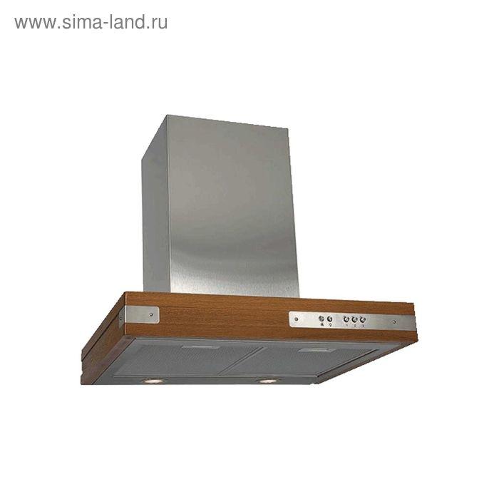 Кухонная вытяжка ELIKOR Патио 60Н-650-К3Г, нержавеющая сталь/дуб неокрашенный