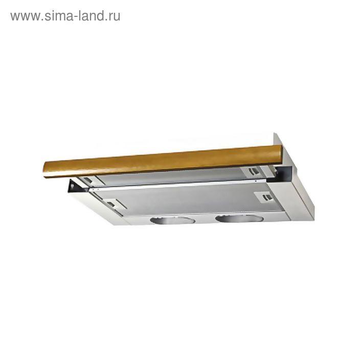 Кухонная вытяжка ELIKOR Интегра 60П-400-В2Л, белая/дуб коричневый