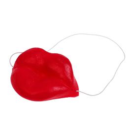 Губы латексные на резинке, красный цвет