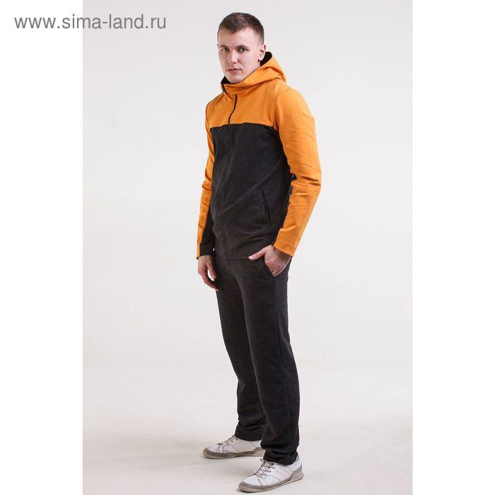 Комплект мужской (куртка+брюки), размер 56, цвет антрацит+горчичный (арт. М-759-05 С+)