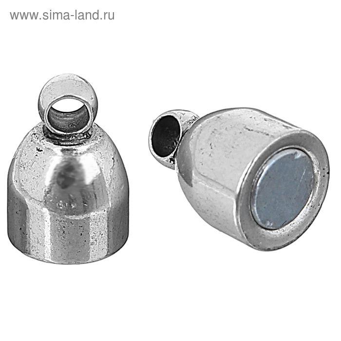 Замок магнитный FMK-M02, набор 5шт, №03 под античное серебро