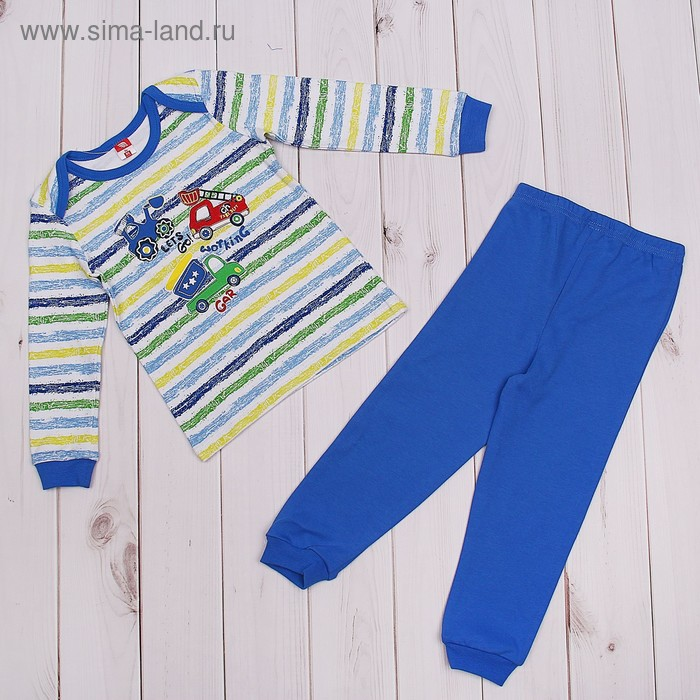 Пижама для мальчика, рост 86 см (52), цвет синий CAB 5281_М