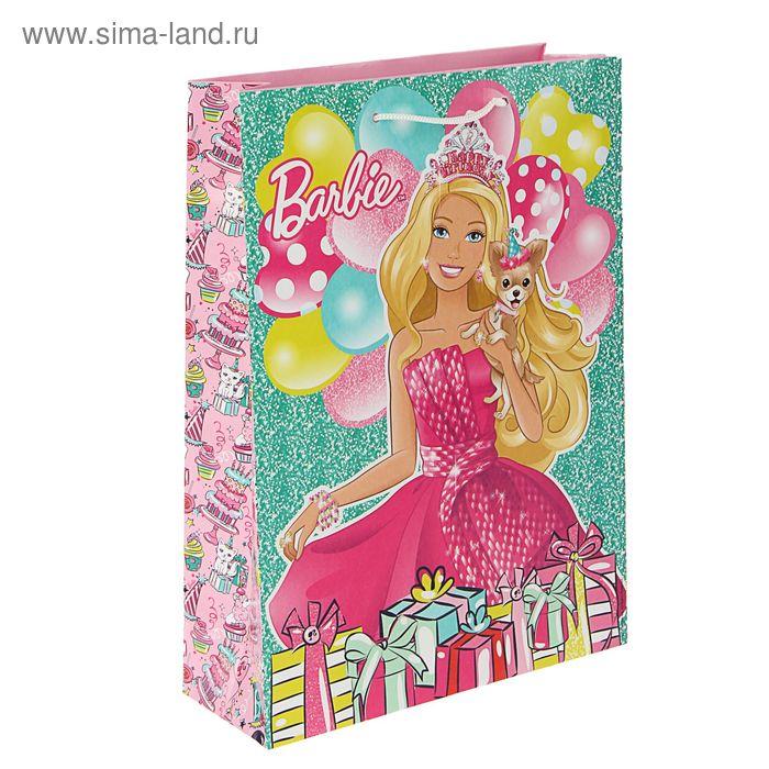 """Пакет подарочный """"День рождения Барби"""", 35 х 25 х 9 см, Mattel Barbie"""