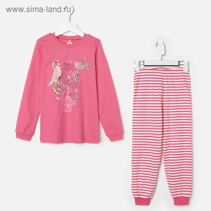 Пижама для девочки, рост 140 см (72), цвет розовый CAJ 5280_Д