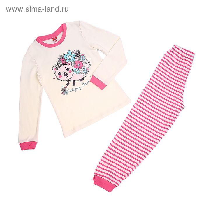 Пижама для девочки, рост 122 см (64), цвет экрю CAK 5279_Д