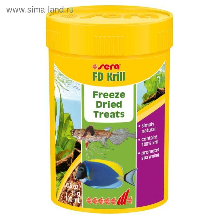 Корм для рыб для повыш плодовитости Sera FD Krill 100 мл, 15 г.