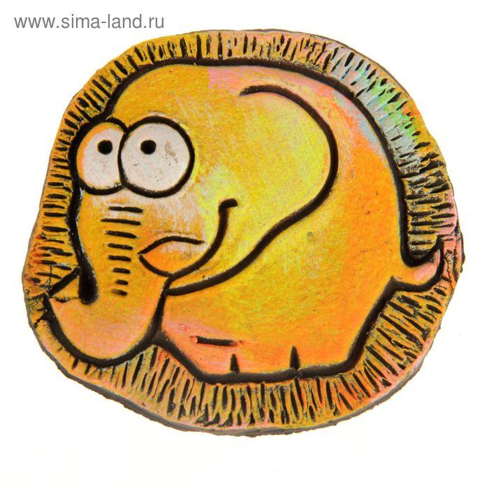 """Магнит из керамики """"Слон"""""""