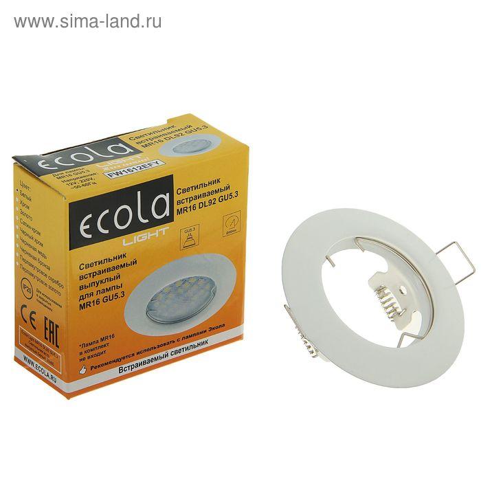 Светильник встраиваемый Ecola DL92, GU5.3, MR16, 30x80 мм, выпуклый, белый