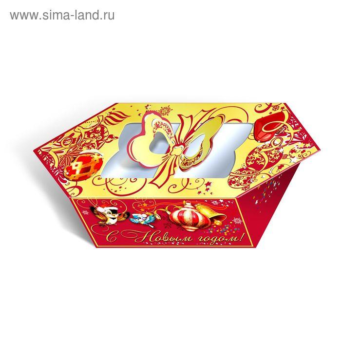 """Подарочная коробка """"С новым годом!"""", конфета, сборная, 17 х 12 х 8 см"""