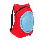 Сумка-рюкзак на молнии, складная, 1 отдел, цвет красный/голубой