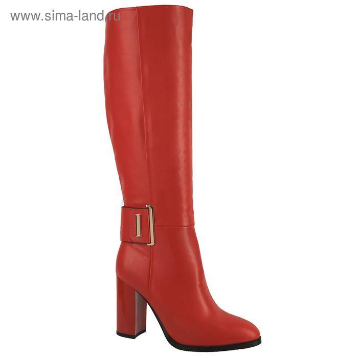 Сапоги женские, размер 36-41, цвет красный 46011