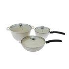 Набор посуды: кастрюля 4 л, сковорода d=24 см, высота 6 см со съемной ручкой, ковш 1,5 л