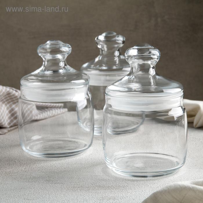 Набор банок для сыпучих продуктов 500 мл Cesni, 3 шт