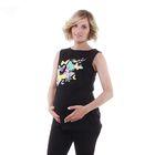 """Майка женская Collorista """"Бабочки"""", размер S(44), цвет чёрный, хлопок 100%"""