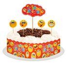"""Набор для украшения торта """"С днём рождения! Смайлики"""""""
