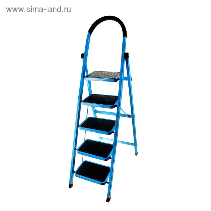 Стремянка с антискользящими ступенями TUNDRA comfort, усиленная, 5 ступеней