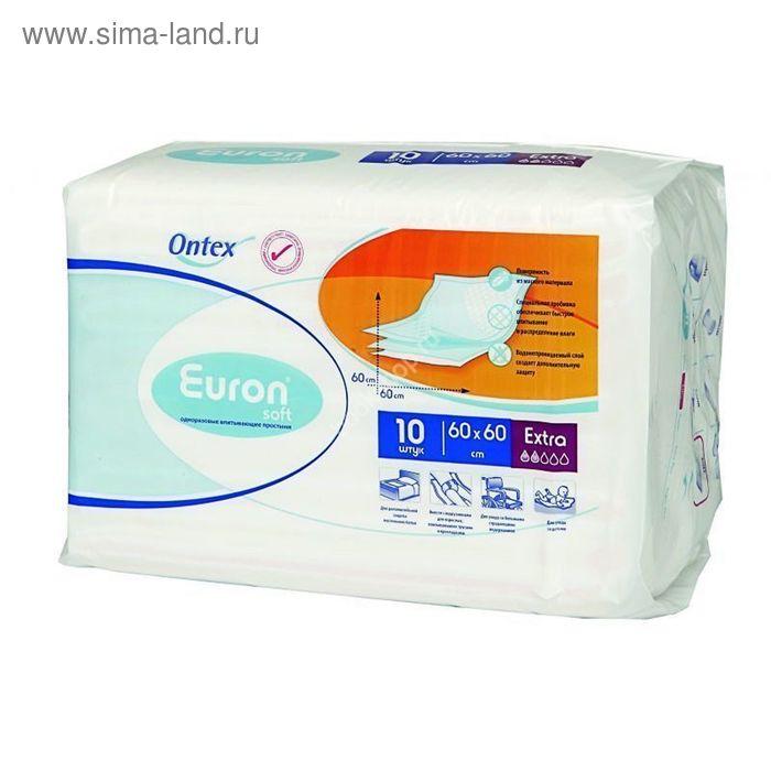 Простыни впитывающие Euron Soft Extra, 60 × 60, 10 шт.