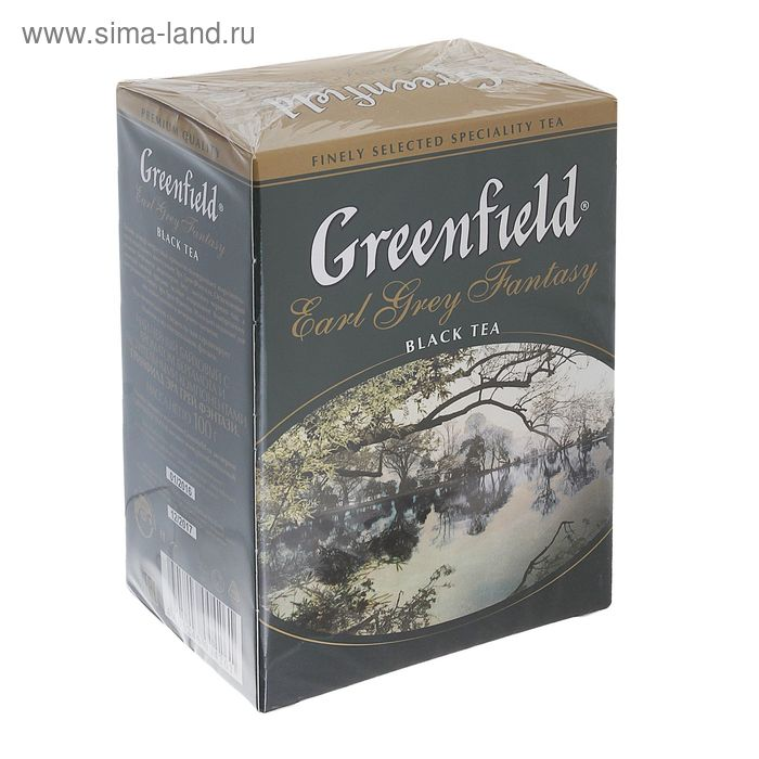 Чай Greenfield Earl Grey fantasy black tea, 100 гр
