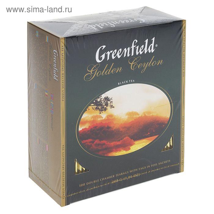 Чай Greenfield Golden Ceylon black tea, 100 пак*2 гр