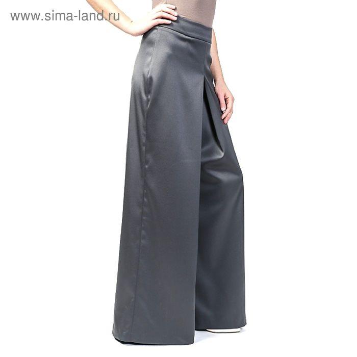 Брюки-юбка женские 4093 С+, цвет графит, р-р 50
