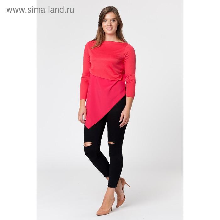 Туника женская, размер 48, цвет красный (арт. 4119)