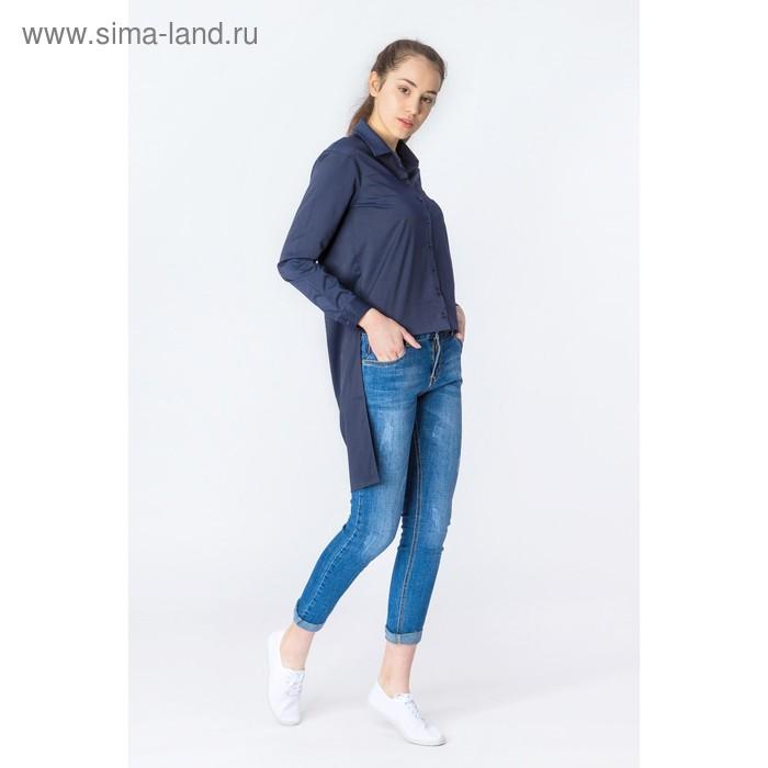 Блуза женская, размер 46, цвет синий (арт. 2201)