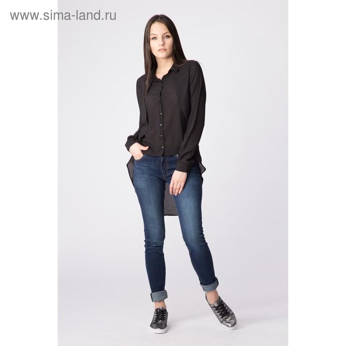Блуза женская, размер 46, цвет чёрный (арт. 2204)