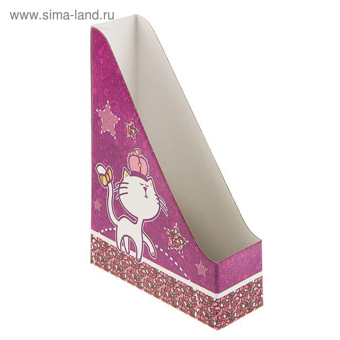 Лоток вертикальный A4 75мм With it Glamour, лак. картон, 2шт в упак., (в разобранном виде)