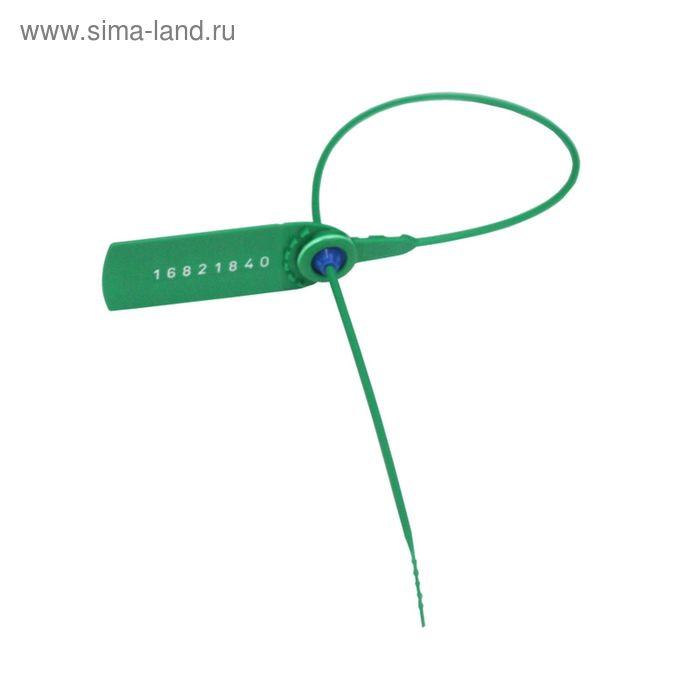 Пломба пластиковая номерная, одноразовая, 330 мм, зеленые, 1000 шт/