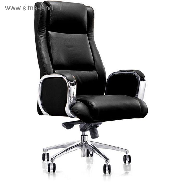 Кресло для руководителя EChair 545 ML черное (кожа/металл)