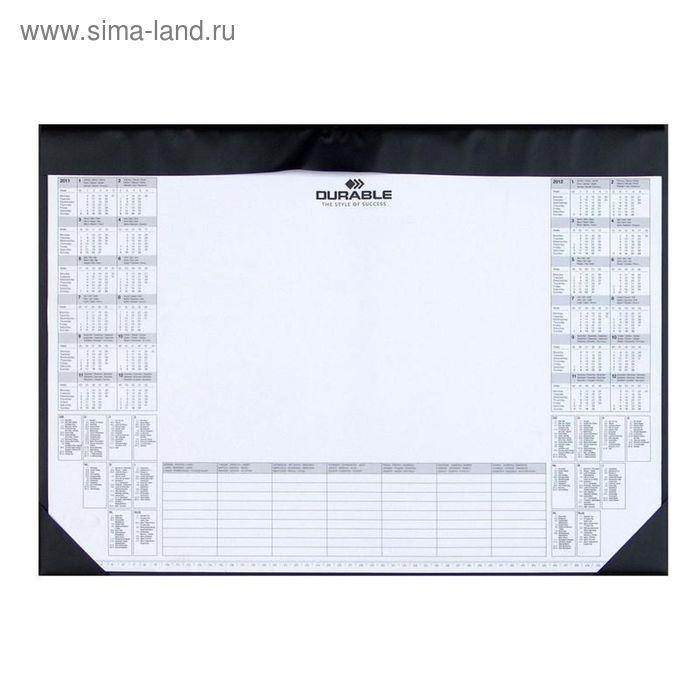 Коврик на стол Durable с календарем на 2 года, со сменным блоком