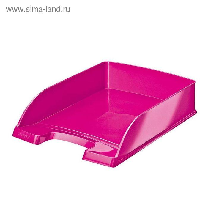 Лоток для бумаг Leitz WOW, розовый глянец