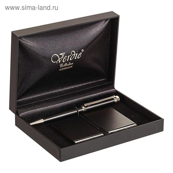 Набор VERDIE Ve-6BG шариковая ручка + визитница, деревянный футляр