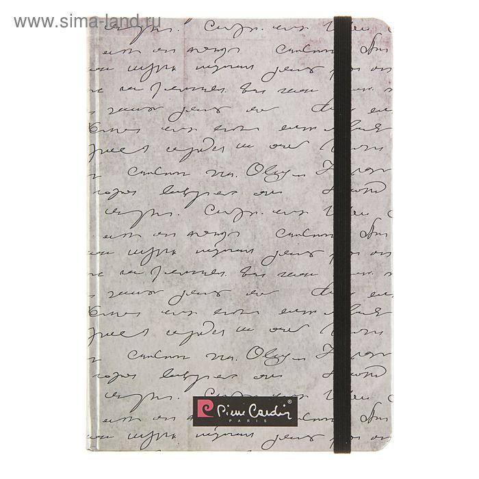 Ежедневник недатированный А5, 100 листов Pierre Cardin Manuscript, матовая ламинация на фольге, резинка, карман