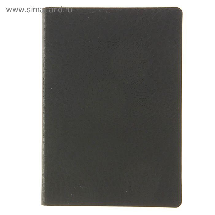 Ежедневник недатированный А5, 288 листов Maestro de Tiempo Leo термо-кожзам, черный, леопардовый рез
