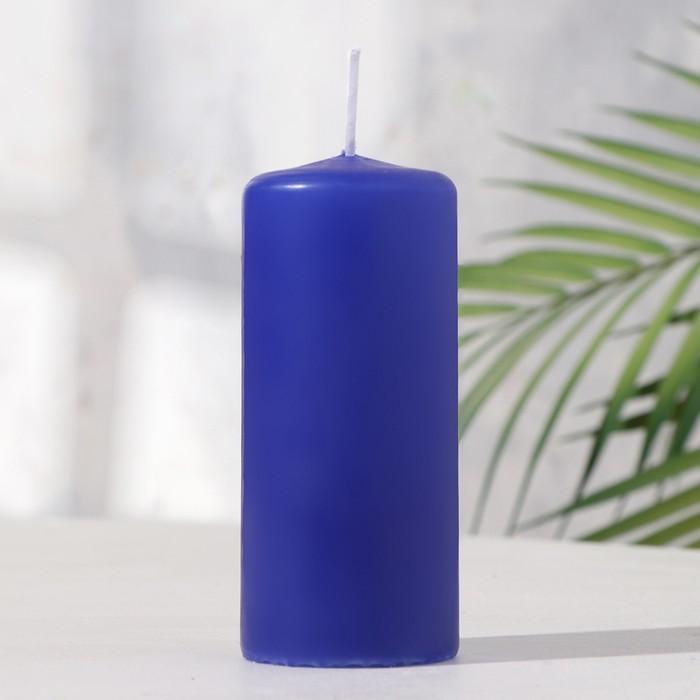 Свеча пеньковая 50х115 голубая