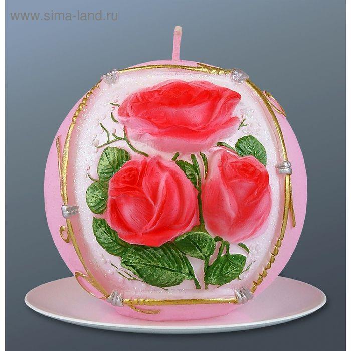 Свеча шар букет роз