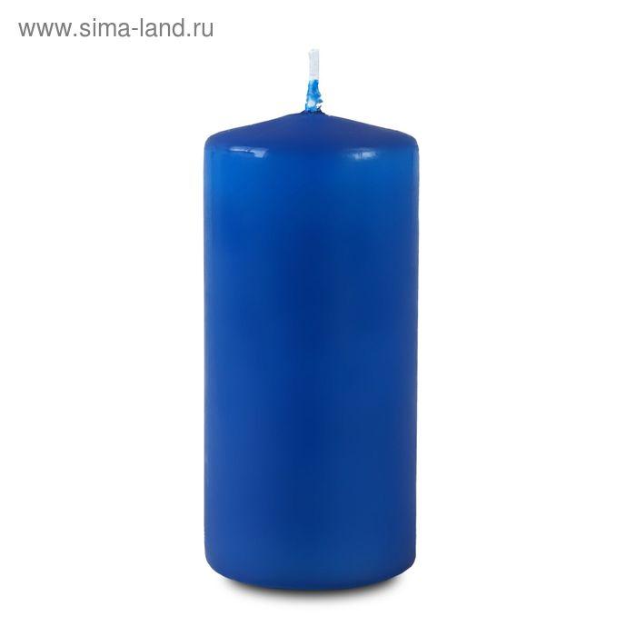 Свеча пеньковая 60х125 синяя